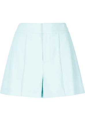 Alice+Olivia Dylan high-waisted pintuck shorts - Blue