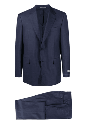 Canali pinstripe single-breasted suit - Blue