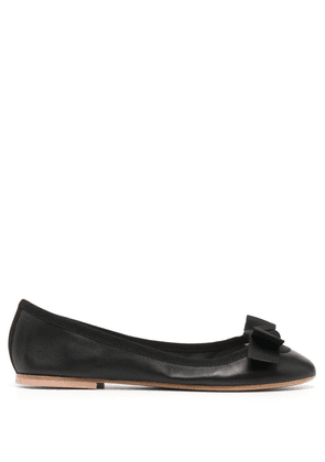 Anna Baiguera bow-front ballerina shoes - Black