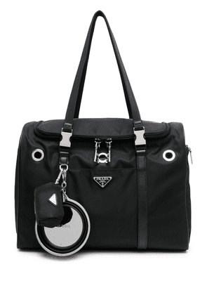 Prada logo-plaque pet holdall - Black