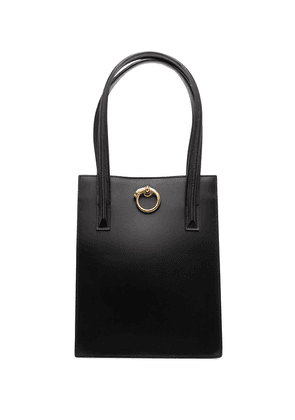 Cartier pre-owned Panther logo elongated tote bag - Black