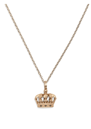 Dolce & Gabbana 18kt yellow gold diamond crown pendant necklace - Silver