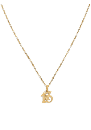 Dolce & Gabbana 18kt yellow gold Good Luck 13 pendant necklace