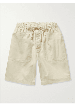 ALEX MILL - BCI Cotton-Blend Twill Drawstring Shorts - Men - Neutrals - XS