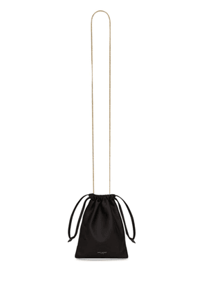 Saint Laurent Leather Drawstring Pouch