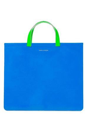 Neon Leather Tote Bag