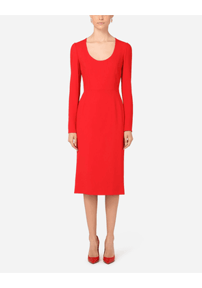 Dolce & Gabbana Collection - Calf-length cady dress RED female 48