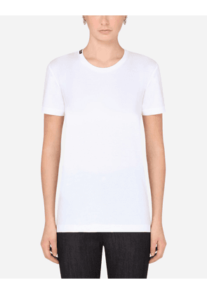 Dolce & Gabbana Collection - Jersey t-shirt with logo WHITE female 38