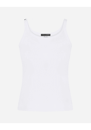 Dolce & Gabbana Collection - Fine-rib jersey tank top WHITE female 2