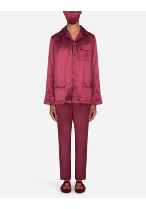 Dolce & Gabbana Loungewear Collection - Dg-embellished pajama set with matching face mask BORDEAUX male 54