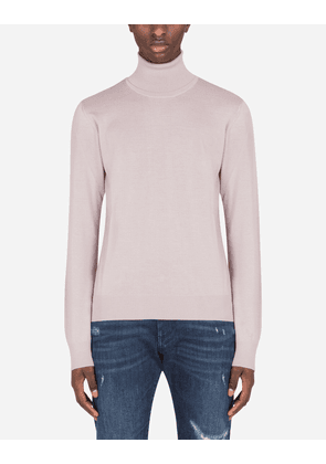 Dolce & Gabbana Collection - Cashmere turtle-neck sweater LAVENDER male 50