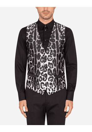 Dolce & Gabbana Collection - Leopard-print jacquard vest ANIMAL PRINT male 48