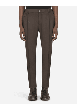 Dolce & Gabbana Collection - Cashmere pants BROWN male 52