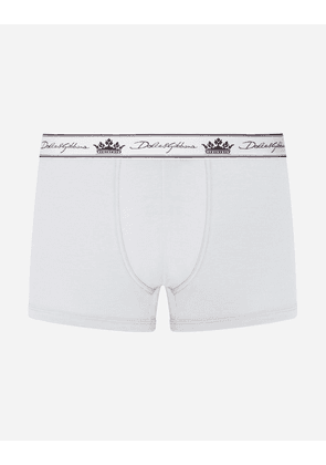 Dolce & Gabbana Collection - Stretch pima cotton boxers GREY male 4