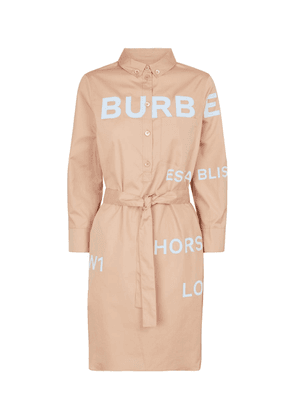Logo cotton twill midi dress