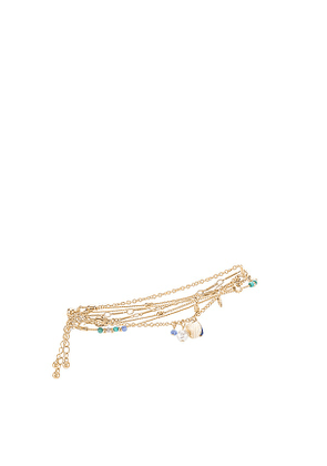 8 Other Reasons Anklet in Metallic Gold.