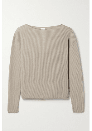 Max Mara - + Leisure Ciro Ribbed Cotton-blend Sweater - Beige