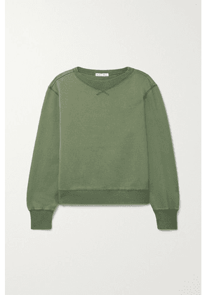 Alex Mill - Lakeside Cotton-jersey Sweatshirt - Army green
