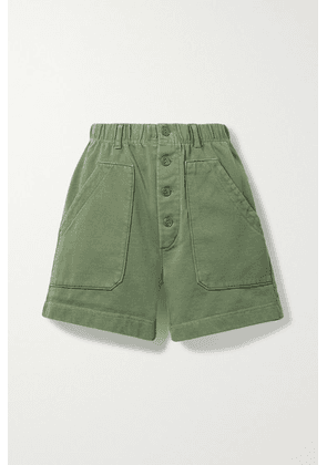 Alex Mill - Lakeside Cotton-jersey Shorts - Army green