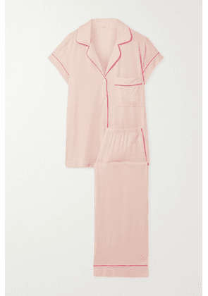 Eberjey - Gisele Piped Stretch-modal Pajama Set - Pastel pink