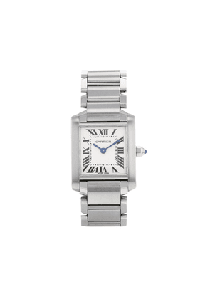 Cartier 2000 pre-owned Tank Française 20mm - White