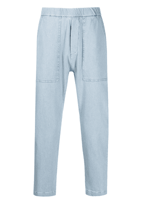 Barena elasticated cropped trousers - Blue