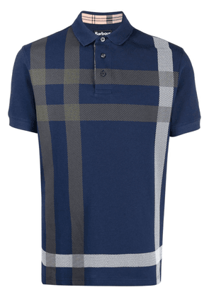 Barbour large-check polo shirt - Blue