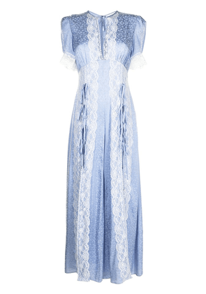 Alice McCall Baby Love floral-lace jumpsuit - Blue
