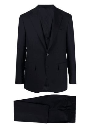 Canali single-breasted three-piece suit - Blue