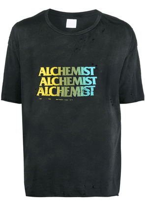 Alchemist distressed logo-print T-shirt - Black