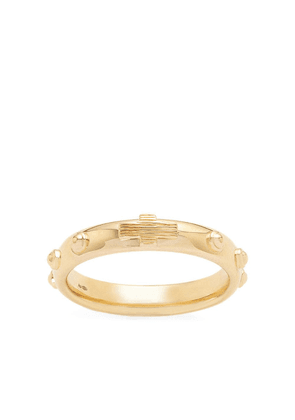 Dolce & Gabbana 18kt yellow gold studded band ring