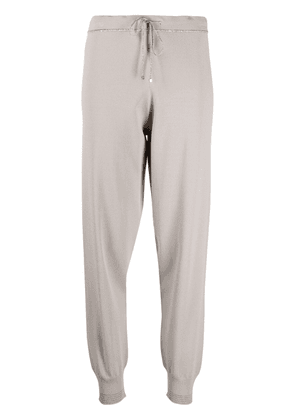 D.Exterior metallic-threading knitted trousers - Neutrals