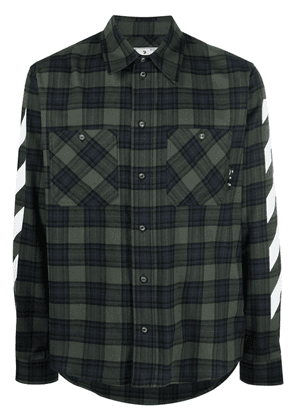 Off-White Diag checked flannel shirt - Green