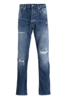 Dondup mid-rise slim-fit trousers - Blue