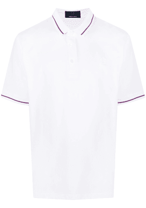 FRED PERRY embroidered-logo cotton polo shirt - White