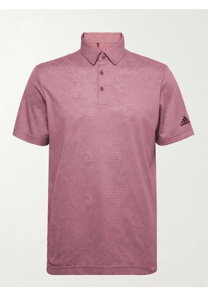 ADIDAS GOLF - Mélange Recycled Primegreen Golf Polo Shirt - Men - Pink - S