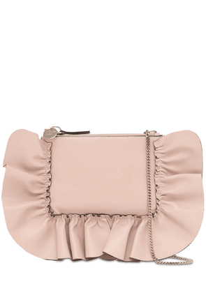 Audrey Leather Pouch W/ruffles