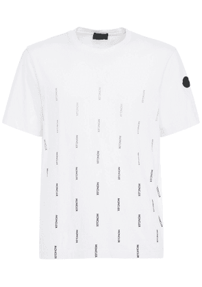 Allover Logo Cotton Jersey T-shirt
