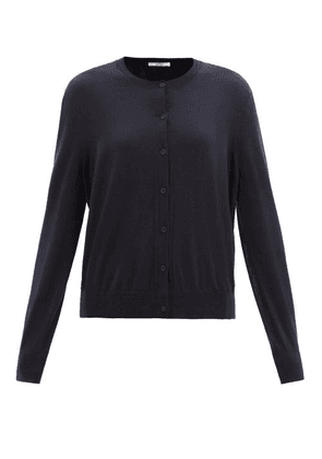 The Row - Battersea Round-neck Cashmere Cardigan - Womens - Navy