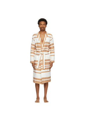 COMMAS Off-White and Beige Champagne Robe