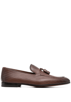 Doucal's woven leather loafers - Brown