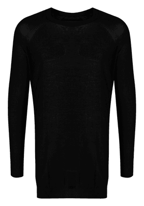 Boris Bidjan Saberi fine-knit cotton jumper - Black