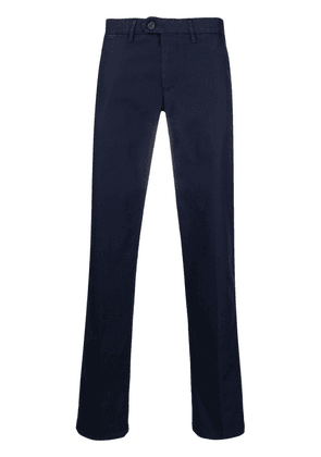 Canali mid-rise straight chinos - Blue