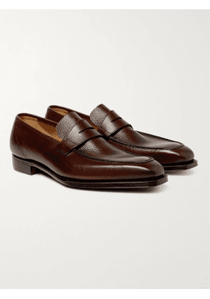 GEORGE CLEVERLEY - George Full-Grain Leather Penny Loafers - Men - Brown - UK 6