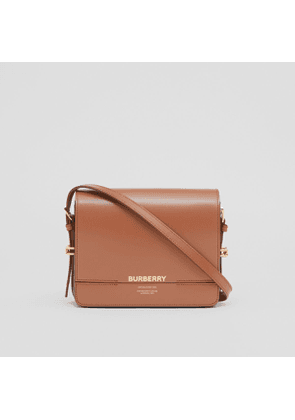 Burberry Small Two-tone Leather Grace Bag, Brown