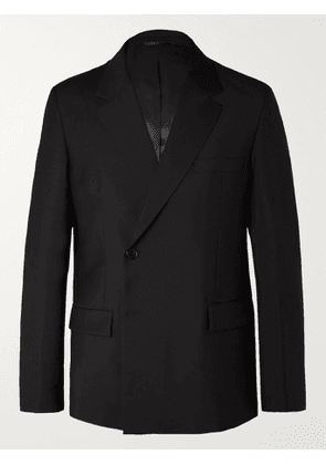 ACNE STUDIOS - Double-Breasted Wool and Mohair-Blend Suit Jacket - Men - Black - IT 46