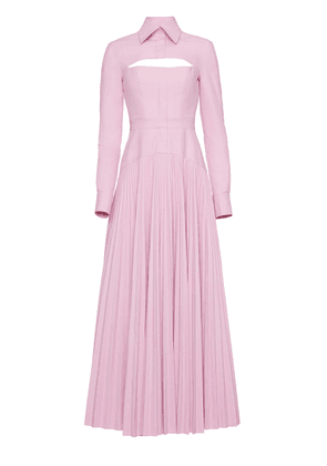 Brandon Maxwell - Women's Convertible Cotton-Blend Midi Shirt Dress - Pink/white - Moda Operandi