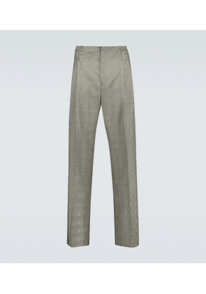 Jade pleated wool pants