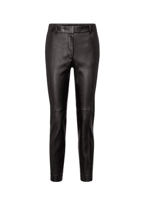 Coleman mid-rise leather pants