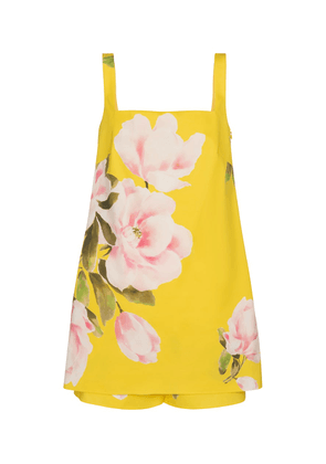Valentino floral cotton and silk playsuit
